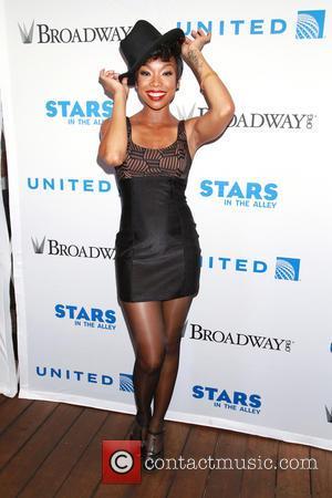 Brandy Norwood - 2015 Stars In the Alley outdoor concert held in Shubert Alley on Broadway. at Shubert Alley, -...