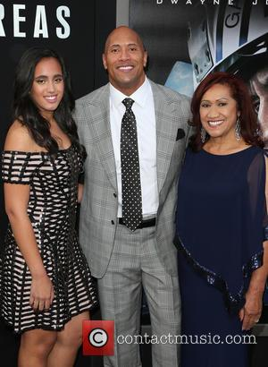 Alexandra Johnson, Dwayne 'the Rock' Johnson and Ata Johnson