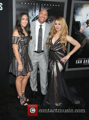 Alexandra Johnson, Dwayne 'the Rock' Johnson and Dinah-jane Hansen Of Fifth Harmony