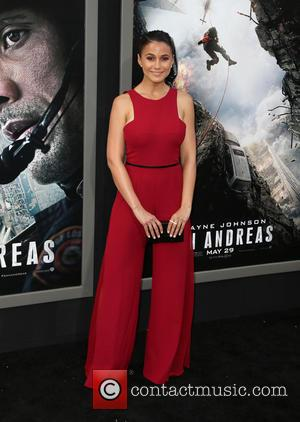 Emmanuelle Chriqui - Los Angeles premiere of 'San Andreas' held at TCL Chinese Theatre - Arrivals at TCL Chinese Theatre...