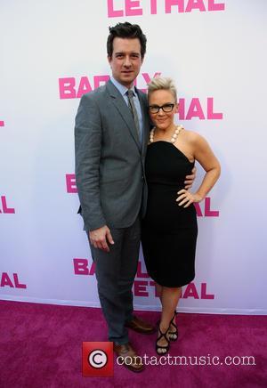 Christian Hebel and Rachael Harris