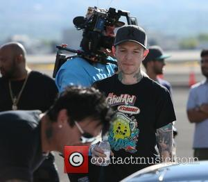 Tommy Lee Jones and Joel Zimmerman - Gumball 3000 arrivals into Reno, Nevada by plane from Amsterdam at Airport -...