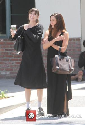 Aubrey Plaza - Aubrey Plaza laughing with a friend while out shopping in Beverly Hills - Hollywood, California, United States...