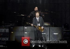 Paul McCartney - Paul McCartney performing live in concert during his   'Out There' tour at Liverpool Echo Arena...