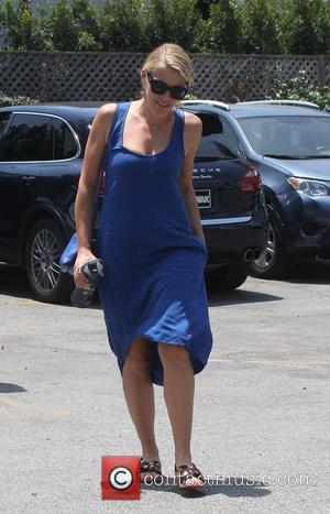 Busy Philipps - Busy Philipps spotted out wearing a blue dress and carrying a matching blue Céline Trio bag -...