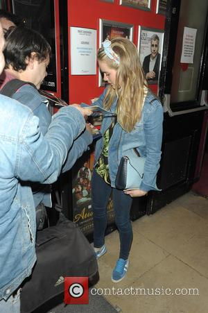 Cressida Bonas - Cressida Bonas leaves the Leicester Square theatre after she preformed in An Evening With Lucien Freud -...