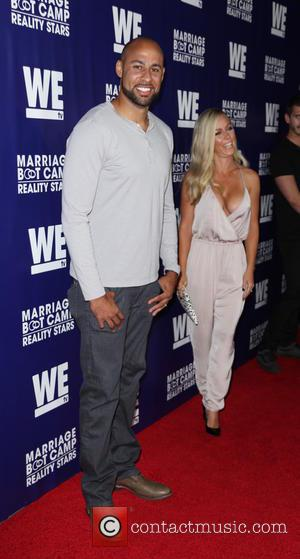 Hank Baskett and Kendra Wilkinson - WE tv's 'Marriage Bootcamp Reality Stars'' premiere party at HYDE Sunset: Kitchen + Cocktails...