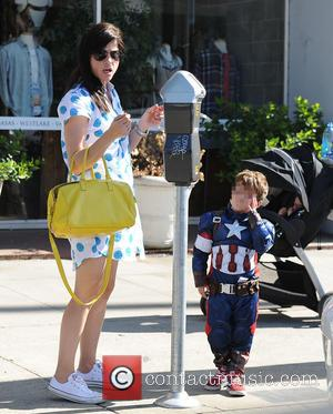 Selma Blair and Arthur Black - Selma Blair out in Studio City with her son Arthur who is wearing a...