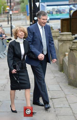 Helen Worth - Memorial Service to celebrate the life of Anne Kirkbride at Manchester Cathedral - Manchester, United Kingdom -...