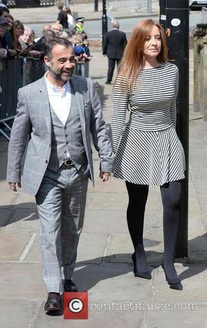 Michael Le Vell and Louise Gibbons - Memorial Service to celebrate the life of Anne Kirkbride at Manchester Cathedral -...