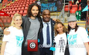 Russell Brand and Errol McKellar - Errols Game for Prostrate Cancer, Men United v Orient Legends at Matchroom Stadium, London...