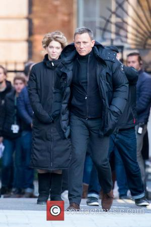 Daniel Craig and Lea Seydoux - Filming for James Bond 'Spectre' takes place near Admiralty Arch in London - London,...