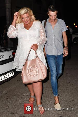 Gemma Collins and Bobby Norris - 'The Only Way Is Essex' cast members party at Cavalli Club in Marbella on...