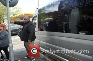 Security and Bodyguard - Fifth Harmony arrive at Signal 1 FM Stoke at Signal 1 FM Stoke - Stoke, United...