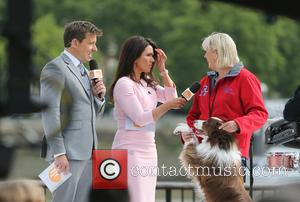 Susanna Reid and Ben Shephard - Susanna Reid filming Good Morning Britain on the Southbank with Britains Got Talent winner...
