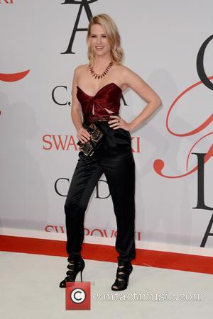 January Jones - 2015 CFDA Fashion Awards - Red Carpet Arrivals - New York City, New York, United States -...
