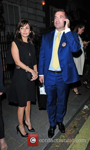 Natalie Imbruglia and Diego Biasi - Celebrities seen departing HAWN Foundation fundraising event . at Annabels - London, United Kingdom...