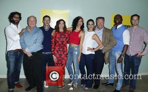 Dirk Blocker, Andy Samberg, Chelsea Peretti, Stephanie Beatriz, Melissa Fumero, Joel Mckinnon Miller and Terry Crews