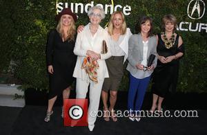 Clare Munn, Maria Bello, Sally Field and Pat Mitchell