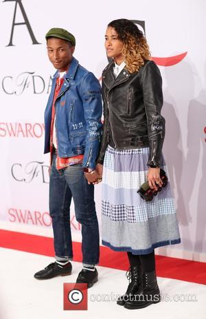 Pharrell Williams and Helen Lasichanh - 2015 CFDA Fashion Awards at Alice Tully Hall, Lincoln Center - Arrivals - New...