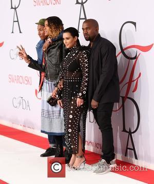 Pharrell Williams, Helen Lasichanh, Kim Kardashian and Kanye West
