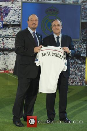 Rafael Benitez and Florentino Perez - Rafael Benitez is appointed as the new Real Madrid FC manager during a press...