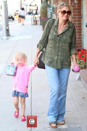 Rebecca Gayheart and Georgia Dane - Rebecca Gayheart and her daughter arrive at Beverly Hills Nail Design for a manicure...