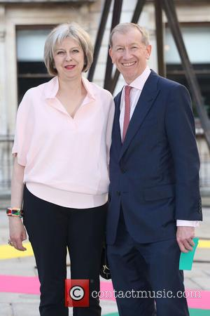 Theresa May and Philip John May - Royal Academy Summer Preview Party 2015 - Arrivals - London, United Kingdom -...