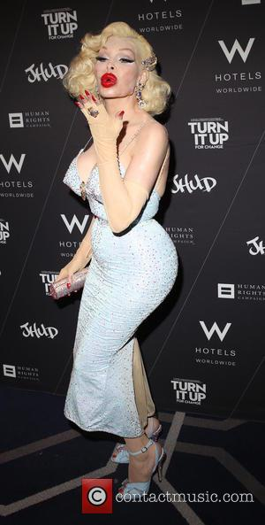 Amanda Lepore - 'Turn It Up For Change' video launch and fundraising party at W Union Square - New York,...