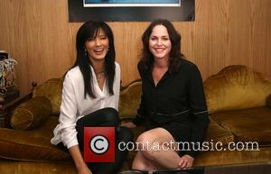 Kelly Hu and Jorja Fox - World premiere of the shark conservation documentary 'Extinction Soup' at Brakeman Brewery - Inside...