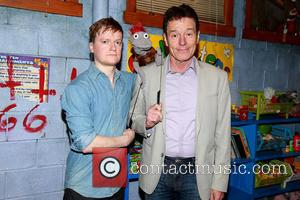 Steven Boyer, Tyrone The Demonic Puppet and Bryan Cranston