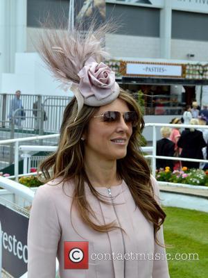 Elizabeth Hurley - Investec Oaks 2015 - Derby Day at Epsom Downs Racecourse at Epsom Downs Racecourse - Epsom, United...