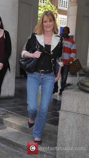 Samantha bond - Samantha Bond leaving the Sunday Brunch studios - London, United Kingdom - Sunday 7th June 2015