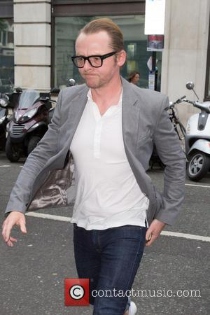 Simon Pegg - Celebrities at the BBC Radio 2 studios at BBC Western House - London, United Kingdom - Monday...