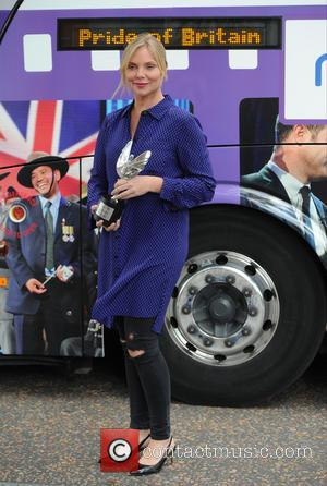 Samantha Zoe Womack - Samantha  Womack seen at ITV Studios in London with The Pride of Britain Award BUS...