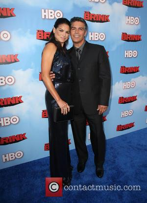 Esai Morales and Elvimar Silva - Los Angeles Premiere for HBO's new comedy series THE BRINK at Paramount Theater -...