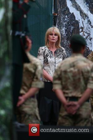 Joanna Lumley - The Queen, accompanied by other senior Royals, attends The Gurkha 200 Pageant at the Royal Hospital Chelsea...