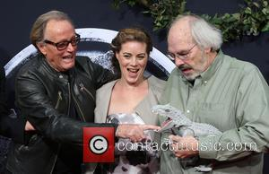 Peter Fonda and Jack Horner - Premiere of Universal Pictures' 'Jurassic World' at Dolby Theatre - Arrivals at Dolby Theatre...