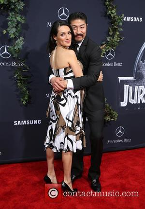 Brian Tee and Mirelly Taylor - Premiere of Universal Pictures' 'Jurassic World' at Dolby Theatre - Arrivals at Dolby Theatre...