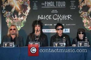 Nikki Sixx, Tommy Lee, Vince Neil and Mick Mars