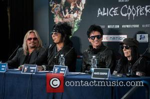 Nikki Sixx, Tommy Lee, Vince Neil and Mick Mars - Motley Crue final tour press conference held at the Law...