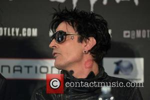 Tommy Lee - Motley Crue final tour press conference held at the Law Society. - London, United Kingdom - Tuesday...