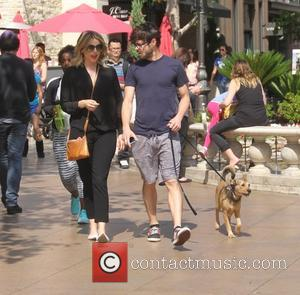 Ali Fedotowsky and Kevin Manno - Ali Fedotowsky goes shopping at The Grove in Hollywood with her boyfriend and pet...