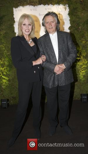 Joanna Lumley stephan barlow - Garden Bridge Trust fundraising gala held at Harrods - Arrivals - London, United Kingdom -...