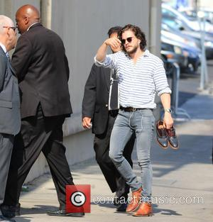 Kit Harington - Kit Harington at the ABC studios for an appearance on Jimmy Kimmel Live! at Jimmy Kimmel Studio...