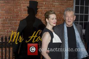 Sir Ian McKellen and Laura Linney - UK premiere of 'Mr. Holmes' at the Odeon Kensington in London - Arrivals...