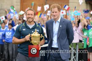 Prince Harry, Will Greenwood and Jonny Wilkinson
