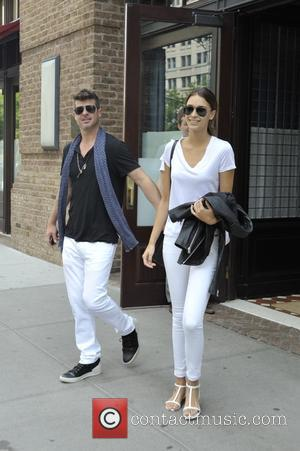 Robin Thicke and April Love Geary - Robin Thicke and April Love Geary In New York - Manhattan, New York,...