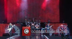 Rob Halford, Glenn Tipton, Richie Faulkener, Ian Hill and Judas Preist