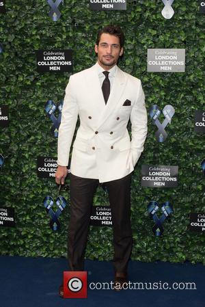 David Gandy - LCM s/s 2016: One For The Boys Charity Ball held at the Roundhouse - Arrivals. - London,...